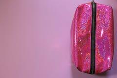 Het gloeien roze geval om kleine dingen te houden Perfectioneer gaan reizend royalty-vrije stock foto