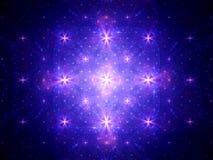 Het gloeien sterrenfractal Royalty-vrije Stock Foto
