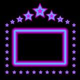 Het gloeiende Frame van het Neon Stock Foto's