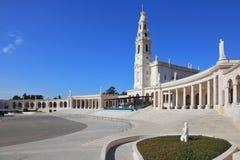 Het godsdienstige complex in de kleine stad van Fatima royalty-vrije stock afbeelding