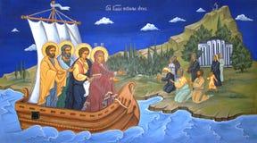 Het godsdienstige mural schilderen Royalty-vrije Stock Fotografie