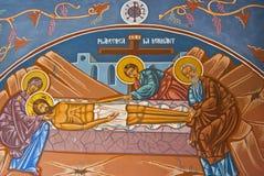 Het godsdienstige schilderen Stock Foto's