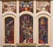 Het godsdienstige schilderen in kerkbinnenland Royalty-vrije Stock Foto's
