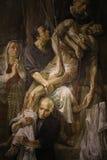 Het godsdienstige schilderen in Rome stock foto