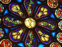 Het Godsdienstige Thema van het vlekglas stock afbeelding