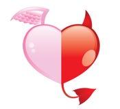 Het goed en het kwaad van de liefde? royalty-vrije illustratie