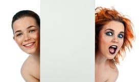 Het goede concept van het meisjes slechte meisje Stock Foto's