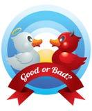 Het goede en Slechte Duel van Eenden Stock Afbeeldingen