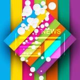 Het goede nieuws vat kleurrijke achtergrond samen Royalty-vrije Stock Foto's