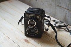 Het goede oude algemene begrip van cameralubitel royalty-vrije stock fotografie