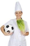 Het goede voedsel voor de gezondheid en deporteert Stock Foto's