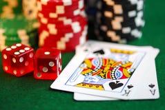 Het gokken Stock Afbeeldingen