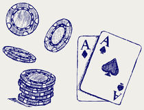 Het gokken stock illustratie
