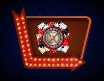 Het gokken achtergrond met casinoelement Stock Afbeeldingen