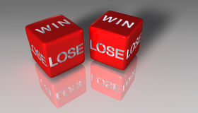 Het gokken dobbelt Stock Foto's