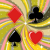 Het gokken geplaatste kaartentekens Stock Foto