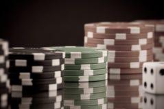 Het gokken Gewoonte stock afbeeldingen