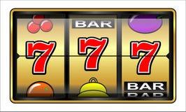 Het gokken illustratie 777 Royalty-vrije Stock Foto