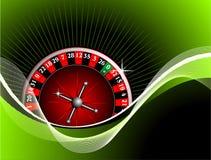 Het gokken illustratie met roulette Stock Foto