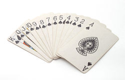 Het gokken met kaarten stock foto