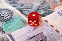 Het gokken op het geld Stock Afbeelding