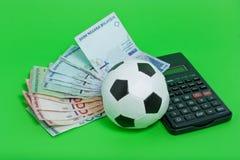 Het Gokken van de voetbal Stock Foto