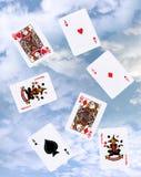 Het gokken van de wolk met speelkaarten royalty-vrije stock afbeeldingen