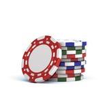 Het gokken van het casino spaanders Stock Illustratie