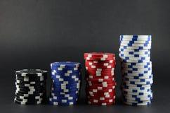 Het gokken van het casino spaanders Stock Foto