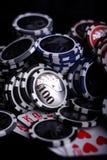 Het gokken van het casino spaanders Stock Foto's