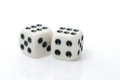 Het gokken van kubussen Royalty-vrije Stock Afbeeldingen