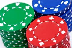 Het gokken van spaanders Stock Foto