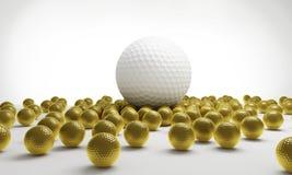 Het golf van ballen Stock Afbeelding