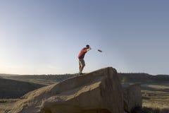 Het Golf van Frisbee - FOLF stock foto