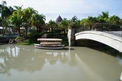 Het Golf van JW Marriott Panama & Strandtoevlucht - Buenaventura, Rio Hato, Panama Royalty-vrije Stock Foto