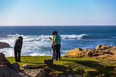 Het Golf van het kiezelsteenstrand Stock Foto's