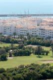 Het golfcursus van Almerimar en haven in Spanje Stock Afbeelding