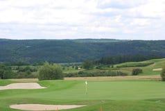 Het golfcursus van Karlstein Stock Foto's