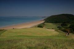 Het golfCursus van Pleneuf val André royalty-vrije stock fotografie
