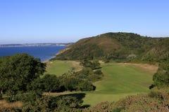 Het golfcursus van Pleneufval andre, Bretagne, Frankrijk Royalty-vrije Stock Foto's