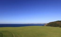 Het golfcursus van Pleneufval andre, Bretagne, Frankrijk Royalty-vrije Stock Foto