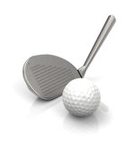 Het golfspel Stock Foto