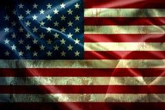 Het golven de uitstekende Amerikaanse textuur van de vlagverenigde staten van amerika, royalty-vrije stock fotografie
