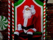 Het golven van de kerstman royalty-vrije stock foto's