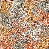 Het golvende gewatteerde naadloze patroon van Grunge Stock Afbeelding