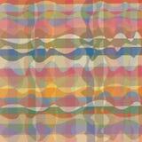 Het golvende lijnen vermenigvuldigd ineenstrengelen die, in bleke kleuren verdraaien Stock Foto