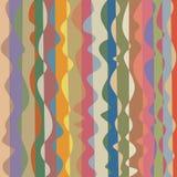 Het golvende lijnen vermenigvuldigd ineenstrengelen die, in bleke kleuren verdraaien Stock Foto's
