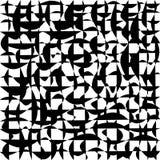 Het golvende lijnen vermenigvuldigd ineenstrengelen die, in zwart-wit verdraaien Royalty-vrije Stock Afbeelding