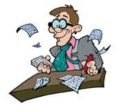 Het Goofy kijken accountant Stock Afbeeldingen