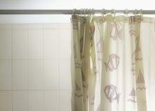Het gordijn van de douche stock fotografie